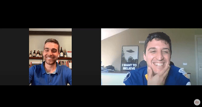 A nice chat with Gabriele Rosso from Slow Wine.